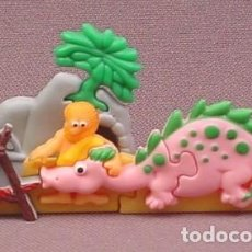 Figuras Kinder: KINDER PUZZLE 3D CAVERNICOLA Y DRAGON K0012. Lote 158964854