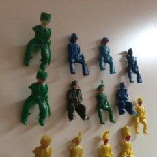 Figuras de Goma y PVC: LOTE DE ANTIGUOS MUÑECOS AÑOS 60 - 70. Lote 159157857