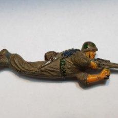 Figuras de Goma y PVC: FIGURA DE GOMA JECSAN PUENTE SOBRE EL RÍO KWAI. Lote 159579369