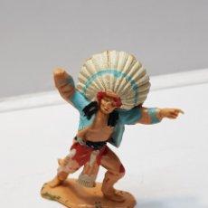 Figuras de Goma y PVC: FIGURA JEFE INDIO DE SOTORRES. Lote 159668205