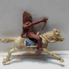Figuras de Goma y PVC: FIGURA REAMSA EN GOMA INDIO A CABALLO. Lote 159673329