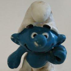 Figuras de Goma y PVC: FIGURA DE PVC , LOS PITUFOS , MARCA SCHLEICH. Lote 159747610