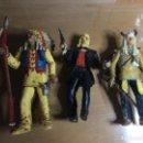 Figuras de Goma y PVC: LOTE 3 FIGURAS COMANSI 17 CMS JEFE INDIO . JEFE JOSEPH Y WILD HICKOK. Lote 159769938