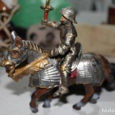 Figuras de Goma y PVC: FIGURA GUERRERO CON CABALLO. Lote 159886954