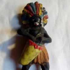 Figuras de Goma y PVC: FIGURA AFRICANO CON TAMBOR PECH. Lote 160268938