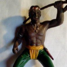 Figuras de Goma y PVC: FIGURA INDIO GUERRERO LAFREDO. Lote 160270158