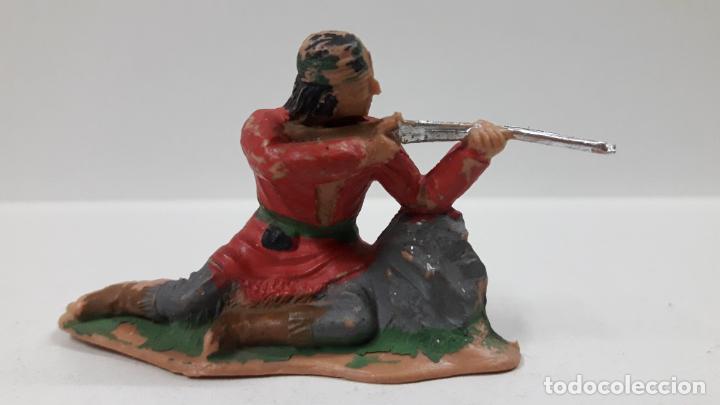GUERRERO INDIO - FIGURA REAMSA Nº 345 . SERIE APACHES . AÑOS 60 (Juguetes - Figuras de Goma y Pvc - Reamsa y Gomarsa)