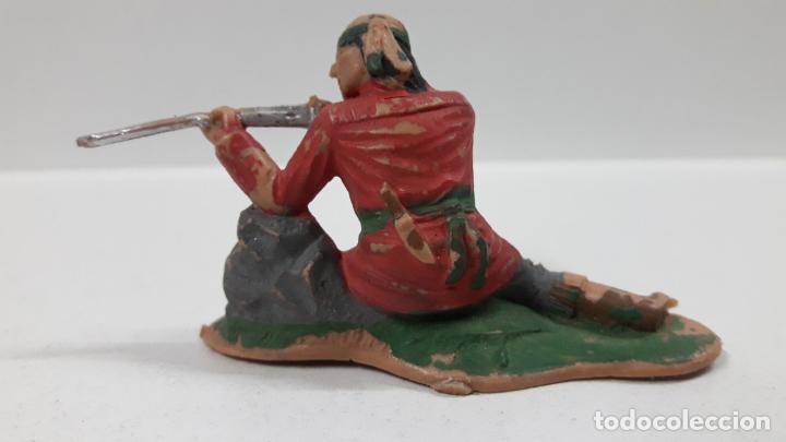 Figuras de Goma y PVC: GUERRERO INDIO - FIGURA REAMSA Nº 345 . SERIE APACHES . AÑOS 60 - Foto 2 - 160290894