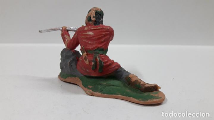 Figuras de Goma y PVC: GUERRERO INDIO - FIGURA REAMSA Nº 345 . SERIE APACHES . AÑOS 60 - Foto 4 - 160290894