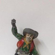 Figuras de Goma y PVC: CONDUCTOR DE CARRETA O DILIGENCIA . REALIZADO POR PECH . AÑOS 50 EN GOMA. Lote 160325098
