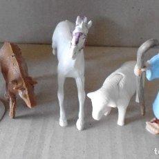Figuras de Goma y PVC: LTE Nº 8 ANIMALES DE GRANJA Y GRANJERO . Lote 160368182