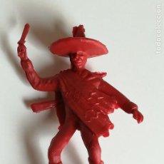 Figuras de Goma y PVC: FIGURA JUGUETES COMANSI - FIGURA MEJICANO CHARRO DE PLÁSTICO MONOCOLOR ROJO. Lote 160372130