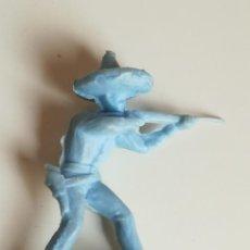 Figuras de Goma y PVC: FIGURA JUGUETES COMANSI - FIGURA MEJICANO CHARRO DE PLÁSTICO MONOCOLOR AZUL. Lote 160372242