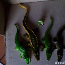 Figuras de Goma y PVC: LOTE Nº 19 LOTE DE CAIMANES Ó COCODRILOS. Lote 160375738