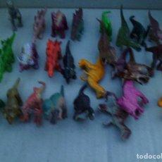 Figuras de Goma y PVC: LOTE Nº 20 LOTE DE DE 25 DINOSAURIOS PEQUEÑOS. Lote 160375998