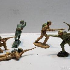 Figuras de Goma y PVC: FIGURAS JECSAN SERIE SOLDADOS LOTE 5. Lote 160435008