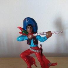 Figuras de Goma y PVC: FIGURA PVC OESTE INDIOS Y VAQUEROS TAMAÑO GRANDE LAFREDO FART WEST . Lote 160446722