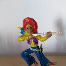 Figuras de Goma y PVC: FIGURA PVC OESTE INDIOS Y VAQUEROS TAMAÑO GRANDE LAFREDO FART WEST. Lote 160446826