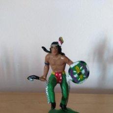 Figuras de Goma y PVC: FIGURA PVC OESTE INDIOS Y VAQUEROS TAMAÑO GRANDE LAFREDO FART WEST . Lote 160446978