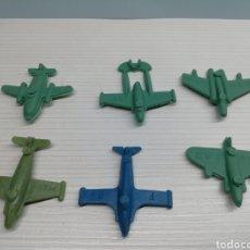 Figuras de Goma y PVC: LOTE 6 AVIONES NUMERADOS AÑOS 70..KIOSCO PIPERO, MONTA PLEX, DUNKIN,MONTA MAN.... Lote 160472693