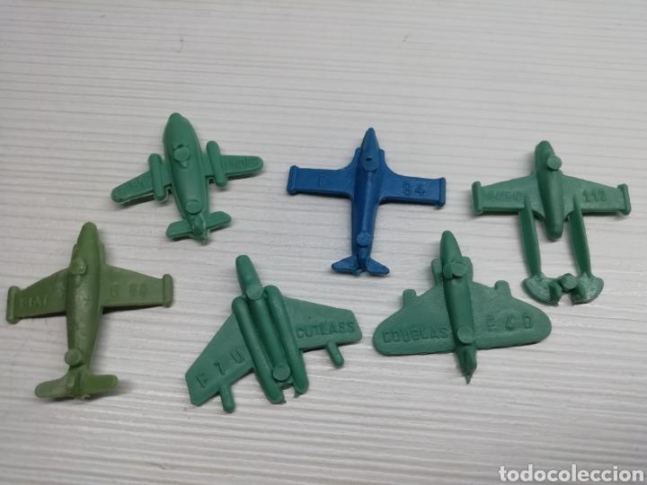 Figuras de Goma y PVC: Lote 6 Aviones Numerados Años 70..kiosco pipero, monta plex, Dunkin,monta man... - Foto 2 - 160472693