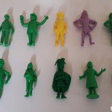 Figuras de Goma y PVC: LOTE 10 FIGURAS SERIE TINTIN HERGÉ, PLÁSTICO, DUNKIN TITO STENVAL LOMBARD, ORIGINALES.. Lote 160595989