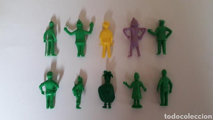Figuras de Goma y PVC: Lote 10 figuras serie TINTIN Hergé, plástico, Dunkin Tito Stenval Lombard, Originales. - Foto 3 - 160595989
