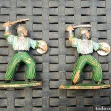 Figuras de Goma y PVC: REAMSA 285 GUEREROS MOROS MEDIEVALES AÑOS 60. Lote 160694604