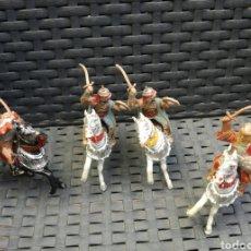 Figuras de Goma y PVC: JINETES MOROS, ARABE, MEDIEVAL, REAMSA, JECSAN AÑOS 60, GOMA. Lote 160696249