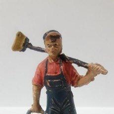 Figuras de Goma y PVC: TRABAJADOR DEL CIRCO . REALIZADO POR JECSAN . AÑOS 50 EN GOMA. Lote 160706710