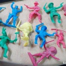 Figuras de Goma y PVC: LOTE FIGURAS VAQUEROS INDIOS. Lote 160715998
