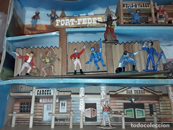 Figuras de Goma y PVC: Comansi fuerte, todo el oeste americano, ref 222, caja grande. - Foto 6 - 160807646