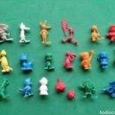 Figuras de Goma y PVC: FIGURAS DUNKIN. COLECCION CONEJO DE LA SUERTE. LOTE DE 19 FIGURAS. Lote 160817926