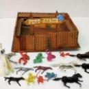 Figuras de Goma y PVC: FORT APACHE Y 16 FIGURAS DE PLÁSTICO. Lote 160827378
