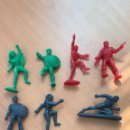 Figuras de Goma y PVC: 8 FIGURAS DUNKIN SERIE MARVEL. BOLLOS SPIDERMAN. PREMIUM, COLOR VARIADO TEMATICA. PANRICO. Lote 160834425