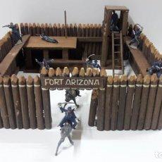 Figuras de Goma y PVC: FUERTE - FORT ARIZONA . REALIZADO EN MADERA . AÑOS 50 . FIGURAS NO INCLUIDAS. Lote 160847782
