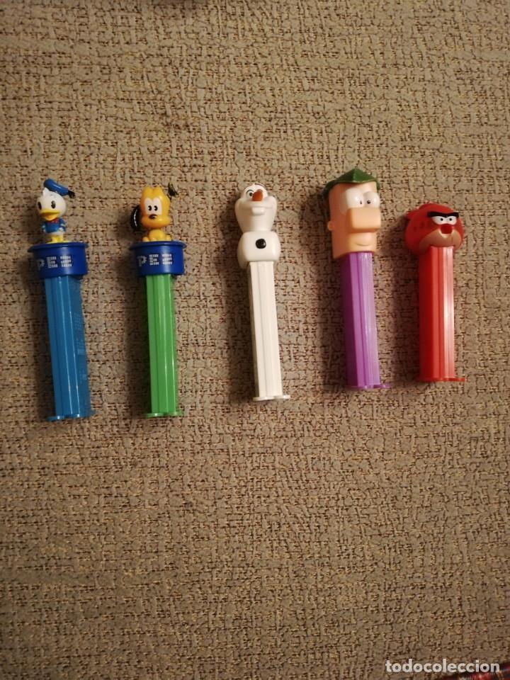 LOTE 5 DISPENSADORES CARAMELOS PEZ - DONALD, PLUTO, OLAF, PHINEAS, ANGRY BIRDS (Juguetes - Figuras de Gomas y Pvc - Dispensador Pez)