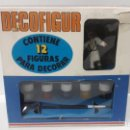 Figuras de Goma y PVC: CAJA DECOFIGUR . REF 1604 - ESQUIADORES . REALIZADA POR REAMSA . AÑOS 60 . FIGURAS PARA DECORAR. Lote 160885130