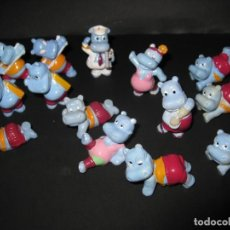 Figuras Kinder: 14 HIPOPÓTAMOS KINDER FERRERO 1992. Lote 161001266