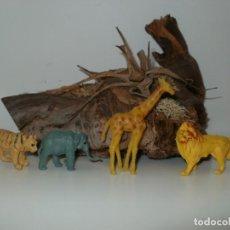 Figuras de Goma y PVC: ANTIGUOS ANIMALES DE PLASTICO. Lote 161256742