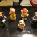 Figuras de Goma y PVC: LOTE DE 5 CRÉDITOS. ORIGEN Y FECHA DESCONOCIDA. Lote 161312306