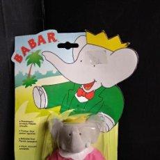 Figuras de Goma y PVC: BABAR FIGURA CELESTE EN BLISTER - IDEAL - NUEVO. Lote 161271802