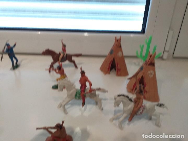 Figuras de Goma y PVC: FIGURAS JECSAN COMANSI REAMSA PECH INDIOS VAQUEROS OESTE - Foto 4 - 161445918