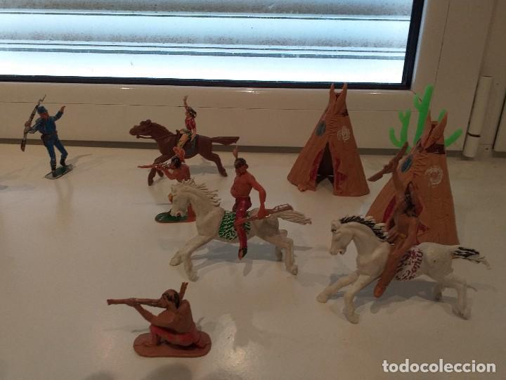 Figuras de Goma y PVC: FIGURAS JECSAN COMANSI REAMSA PECH INDIOS VAQUEROS OESTE - Foto 5 - 161445918