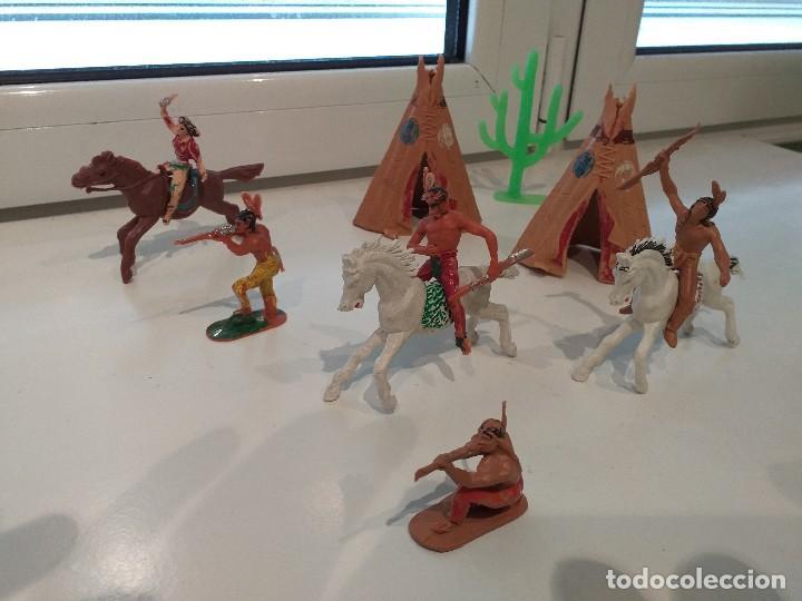 Figuras de Goma y PVC: FIGURAS JECSAN COMANSI REAMSA PECH INDIOS VAQUEROS OESTE - Foto 6 - 161445918