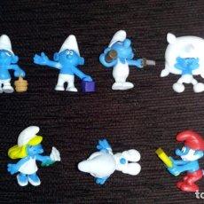 Figuras Kinder: LOTE DE 7 FIGURITAS PITUFOS DE KINDER. Lote 161504570