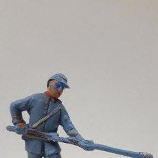 Figuras de Goma y PVC: ARTILLERO - SOLDADO FEDERAL YANKEE . REALIZADO POR PECH . AÑOS 60. Lote 161528726