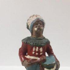 Figuras de Goma y PVC: GUERRERO INDIO . FIGURA REAMSA Nº 71 . AÑOS 50 EN GOMA. Lote 161532590