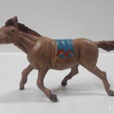 Figuras de Goma y PVC: CABALLO INDIO . REALIZADO POR TEIXIDO . AÑOS 50 EN GOMA. Lote 161532846
