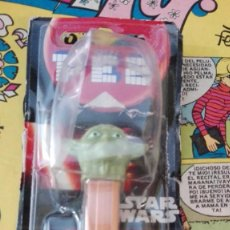 Dispensador Pez: DISPENSADOR PEZ YODA EN CAJA - STAR WARS - CARAMELOS PEZ. Lote 161534686